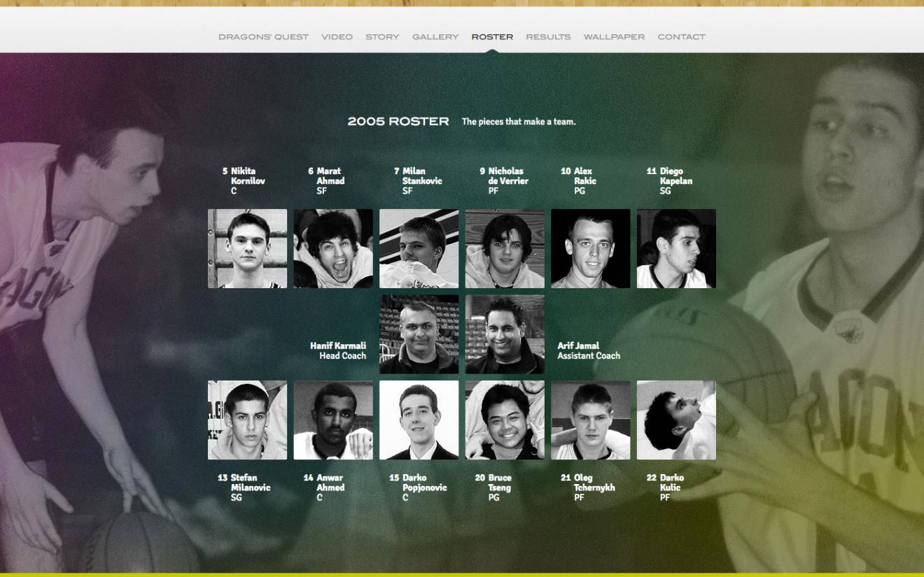 Website Roster Page