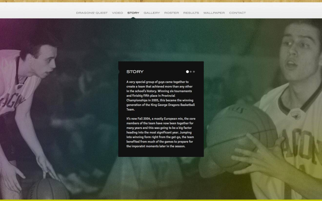 Website Story Page