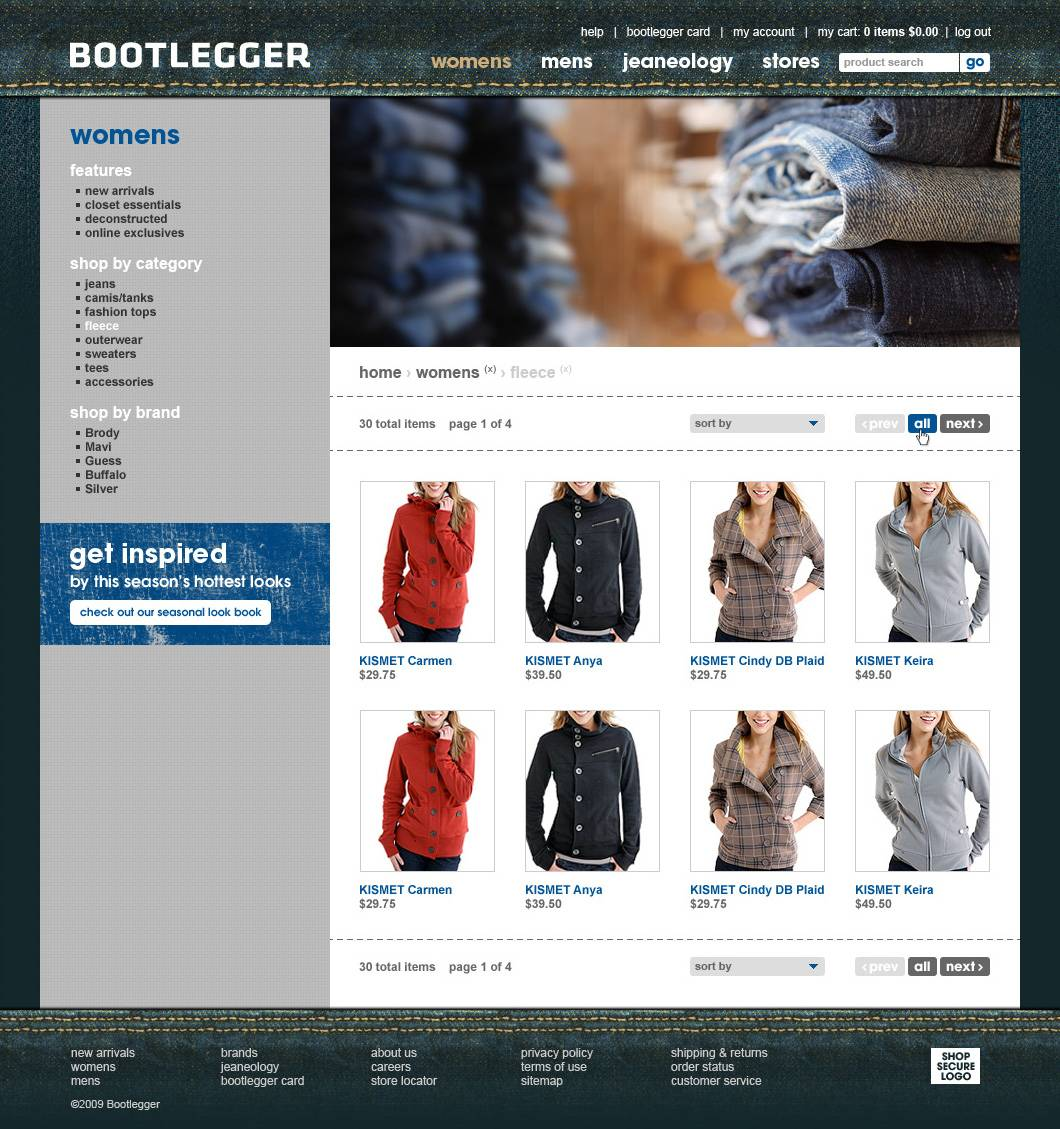 Product Listings Page