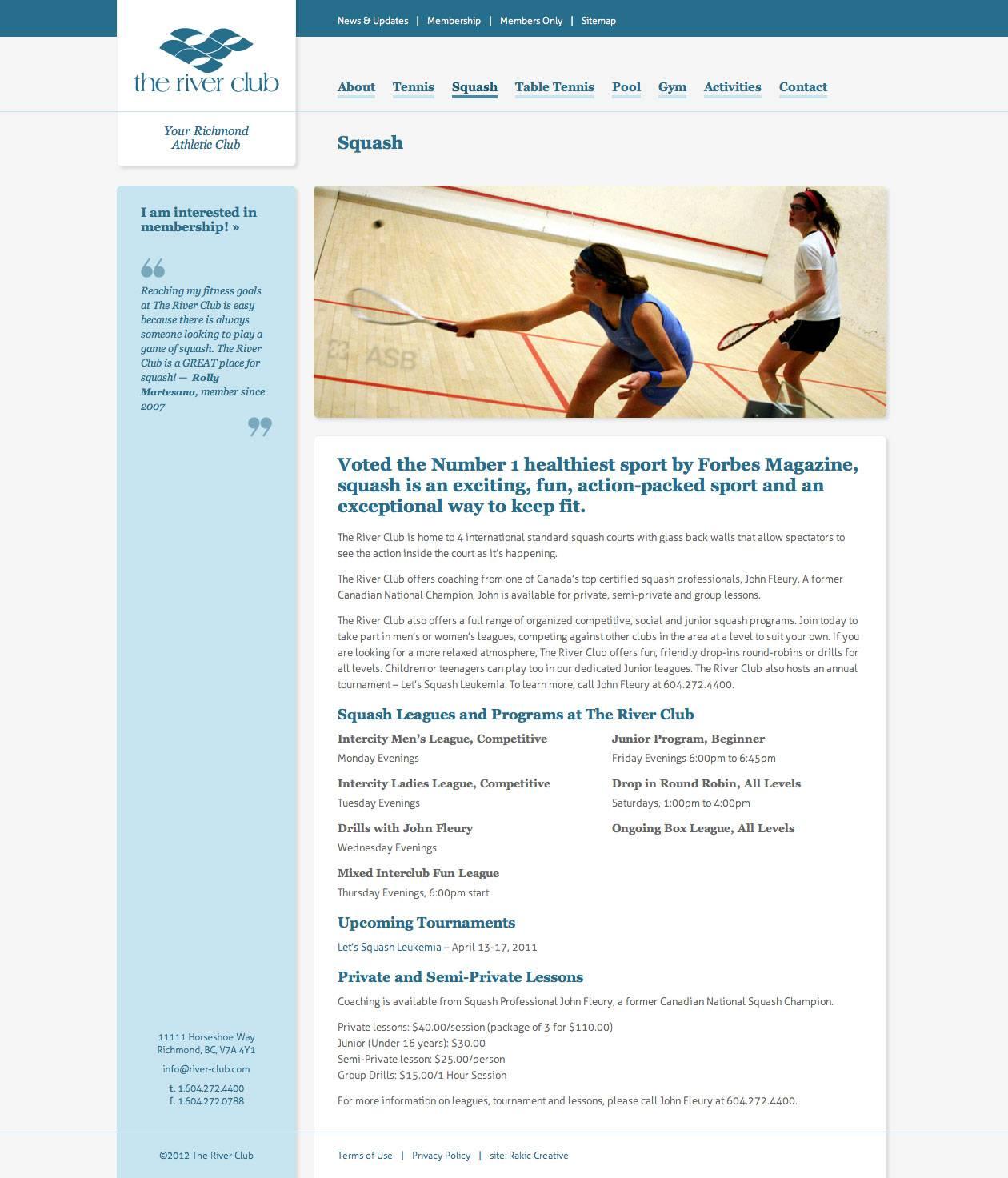 Squash Page