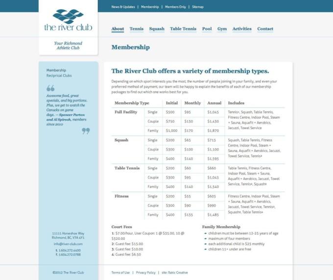 Membership Page