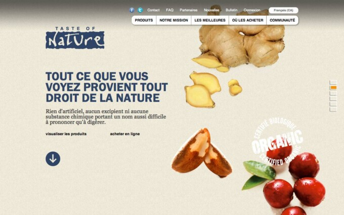 Home Page Parallax Slide (In French)