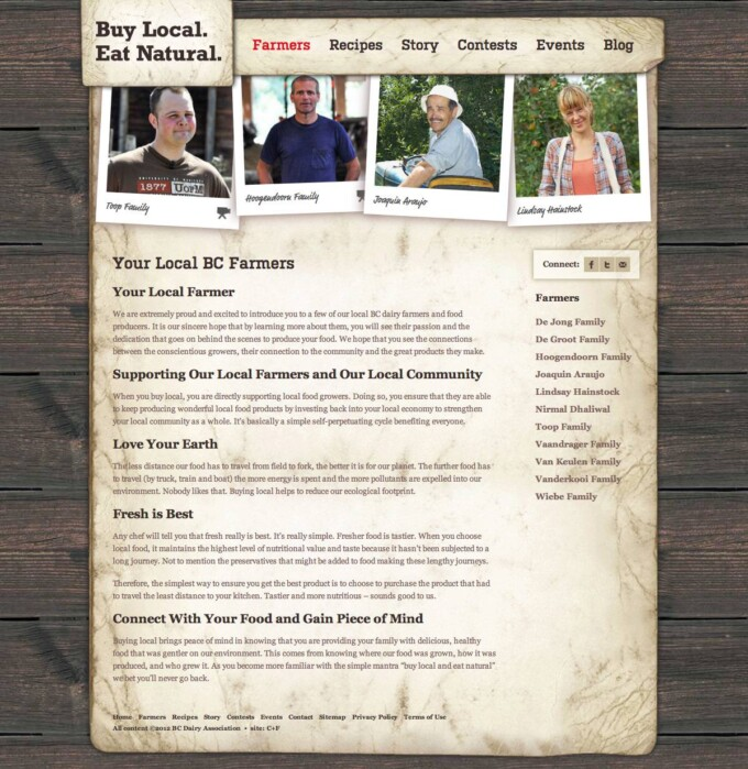 Farmers Landing Page