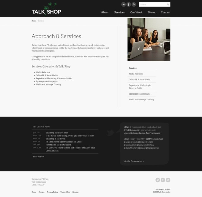 Services Content Page