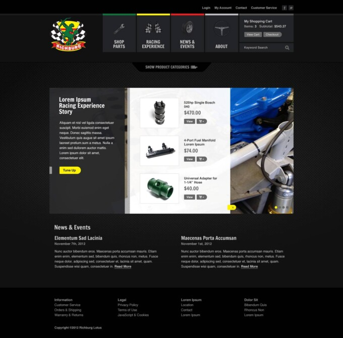 Home Page (Product Listings View)