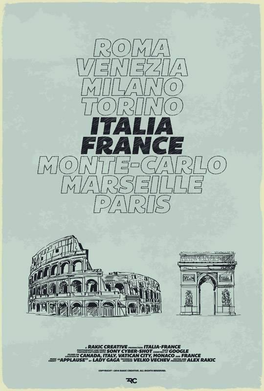 Italia-France Poster