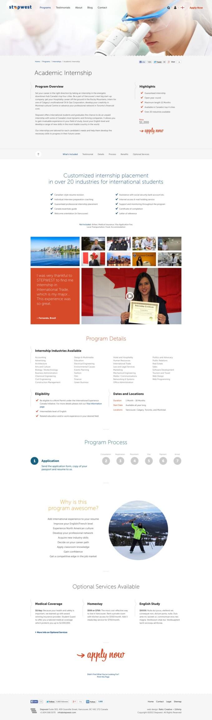 Program Detail Page